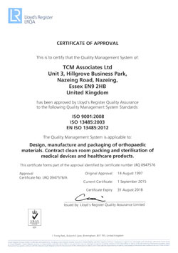 Certificate of Approval 2015